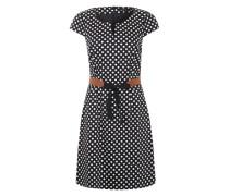 Kleid mit schönem Punktemuster schwarz