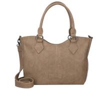 'Beatrisa' Nubuck Shopper Tasche 36 cm sand / braun