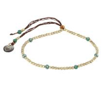 Armband 'Capri' türkis / braun / gold