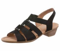Sandalette hellbraun / schwarz