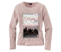 Langarmshirt für Mädchen pink