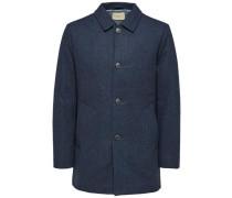 Klassischer Mantel dunkelblau