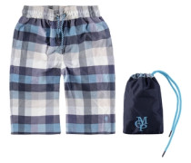 Boardshorts Karo Jungen Kinder blau