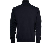 High-Neck-Strickpullover schwarz