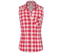 Bluse Dalia rot / weiß
