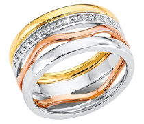 Ring »So1184/1-4« goldgelb / rosegold / silber
