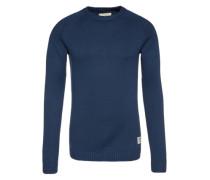 Pullover mit Rundhals blau