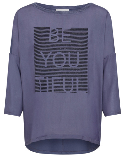 Shirt schwarz / lila