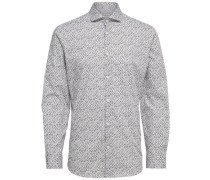Langarmhemd schwarz / weiß