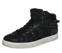 Sneaker High mit Schnallen schwarz