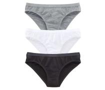 Bikinislip grau / schwarz / weiß
