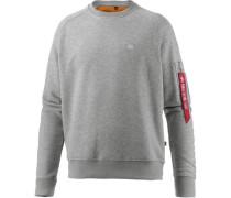 Sweatshirt Herren grau / rot