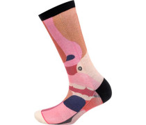 Socken apricot / pink / rosa / schwarz