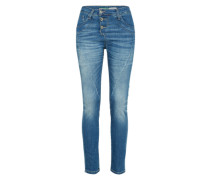 Jeans mit Knopfleiste 'Trousers' blue denim