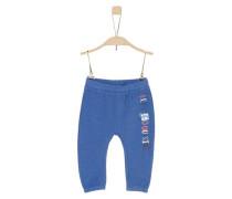 Jogging Pants mit Schriftprint dunkelblau / blaumeliert / altrosa / weiß