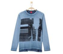 Lässiges Garment Dye-Shirt hellblau