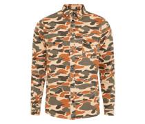 Shirt 'pattern' khaki / mischfarben