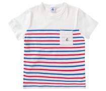 Baby T-Shirt im Streifendesign für Jungen blau / rot / weiß