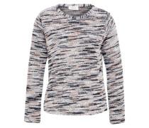 Feinstrick Pullover grau / schwarz