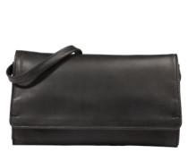 Portemonnaie-Tasche aus Kuhleder schwarz