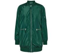 Lange Bomber-Jacke grün