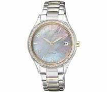Solaruhr 'eo1184-81D' opal / gold / silber