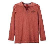 Kapuzenshirt in Garment Dye rot