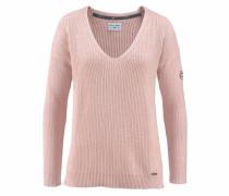 V-Ausschnitt-Pullover rosé