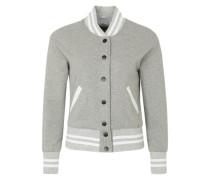 Sweatjacke 'parisiennes teddy jacket' grau