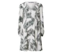 Kleid 'byfia' grün / weiß