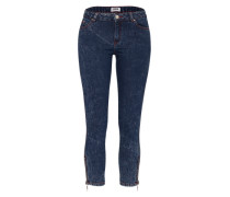 Skinny Denim 'Snow' blue denim / rot