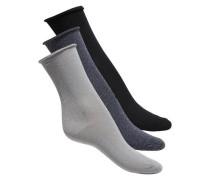 Glitzer-Socken hellgrau / dunkelgrau / schwarz