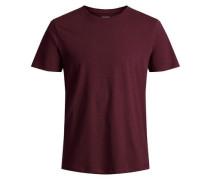 Basic T-Shirt weinrot