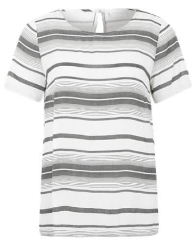 Leichtes Blusenshirt 'Vanti' grau / weiß