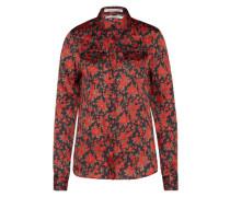 Bluse mit Blumenprint rot / schwarz