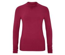 Viskose-Shirt mit Stehkragen pink