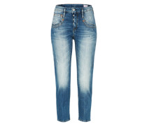 'Shyra Cropped' Jeans in 3/4-Beinlänge blue denim