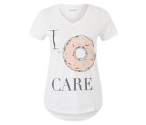 T-Shirt mit Ziersteinen weiß