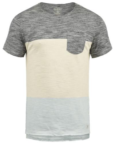 T-Shirt 'Johannes' schwarz / schwarzmeliert