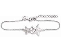 Armband mit Zirkonia »Stern C1537B/90/03/17+3« silber