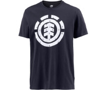 T-Shirt 'Ikat Fill' navy / weiß