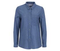 Hemd mit angesagtem Dot-Muster blau