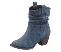 Stiefelette im Western-Look blau