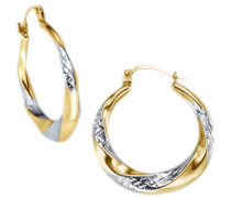 """Creolen""""Basic"""" diamantiert gold / silber"""