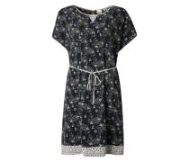 Sommerkleid mit Blumenmuster creme / navy