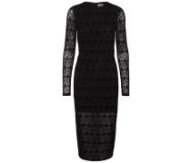 Spitzen-Kleid mit langen Ärmeln schwarz
