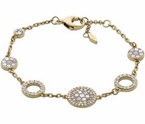 Armband 'vintage Glitz' gold / weiß