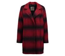 Mantel mit Wollanteil 'Check Coat' rot / schwarz