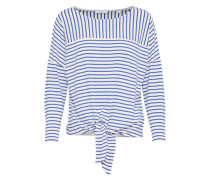 Sweatshirt 'Siplak' blau / weiß