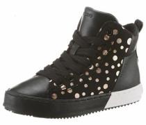 Sneaker gold / schwarz / weiß